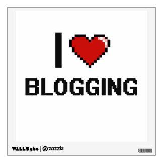 I Love Blogging Digital Retro Design Wall Graphic