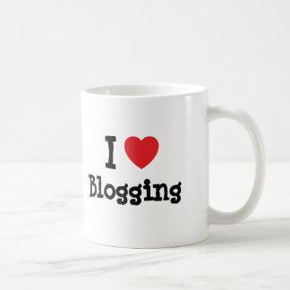 I love Blogging heart custom personalized Mugs