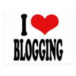 I Love Blogging Postcards