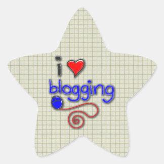 I Love Blogging Star Sticker