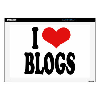"""I Love Blogs 17"""" Laptop Decal"""