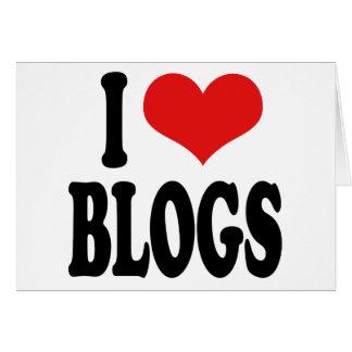 I Love Blogs Card