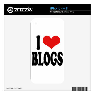 I Love Blogs iPhone 4 Skin