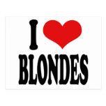 I Love Blondes Postcard
