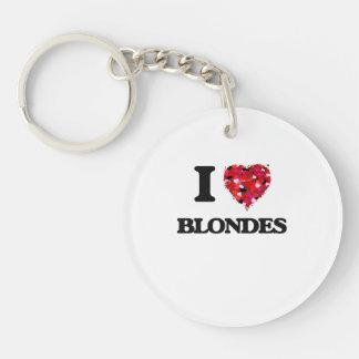 I Love Blondes Single-Sided Round Acrylic Keychain