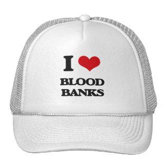 I Love Blood Banks Mesh Hats