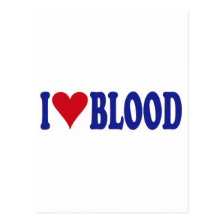I Love Blood Post Cards
