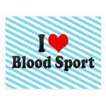 I love Blood Sport Postcard