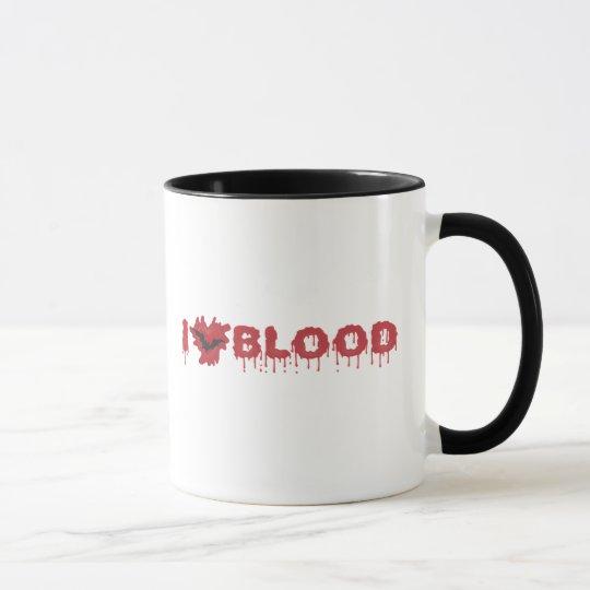 I Love Blood with Vampire Bat Mug
