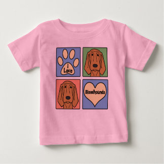 I Love Bloodhounds Baby T-Shirt