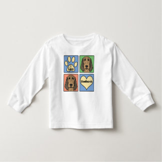 I Love Bloodhounds Toddler T-shirt