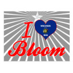 I Love Bloom, Wisconsin Post Card