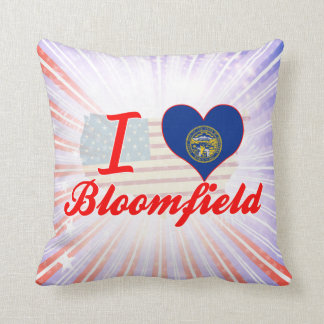 I Love Bloomfield, Nebraska Throw Pillow