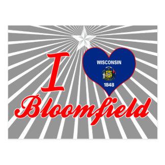 I Love Bloomfield, Wisconsin Postcard