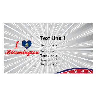I Love Bloomington, Idaho Double-Sided Standard Business Cards (Pack Of 100)