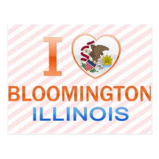 I Love Bloomington, IL Postcard