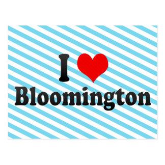 I Love Bloomington, United States Postcard