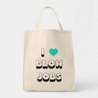 I Love Blow Jobs Grocery Tote Bag