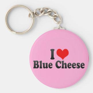 I Love Blue Cheese Keychain
