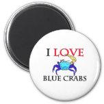 I Love Blue Crabs Fridge Magnets