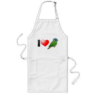 I Love Blue-crowned Conures Long Apron