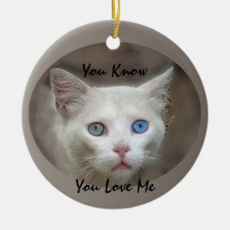 I Love Blue Eyes Ceramic Ornament