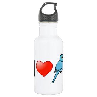I Love Blue Indian Ringnecks 18oz Water Bottle
