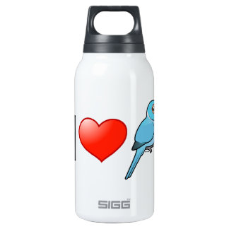 I Love Blue Indian Ringnecks 10 Oz Insulated SIGG Thermos Water Bottle