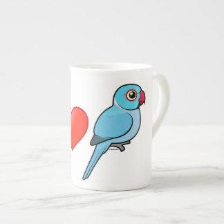 I Love Blue Indian Ringnecks Tea Cup