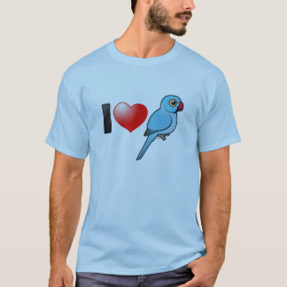 I Love Blue Indian Ringnecks T-Shirt