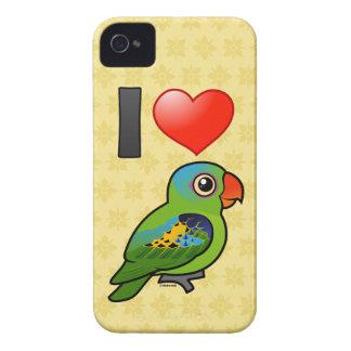I Love Blue-naped Parrots iPhone 4 Cases