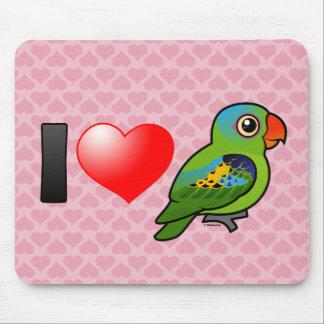 I Love Blue-naped Parrots Mouse Pad
