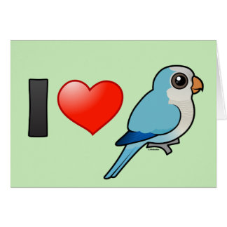 I Love Blue Quakers Greeting Card