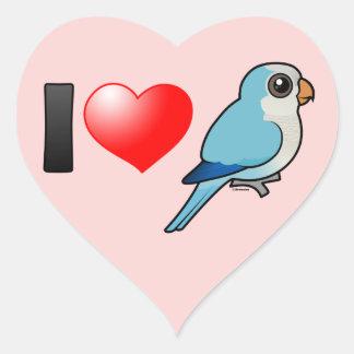 I Love Blue Quakers Heart Sticker