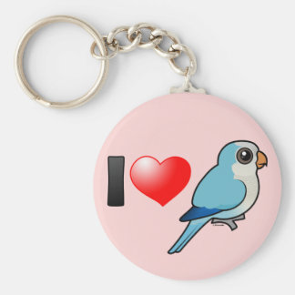 I Love Blue Quakers Basic Round Button Keychain