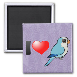 I Love Blue Quakers 2 Inch Square Magnet