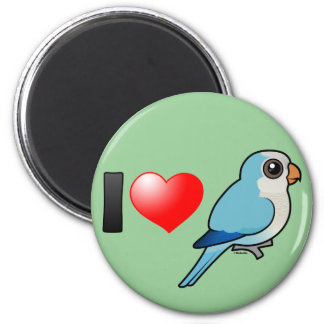 I Love Blue Quakers 2 Inch Round Magnet