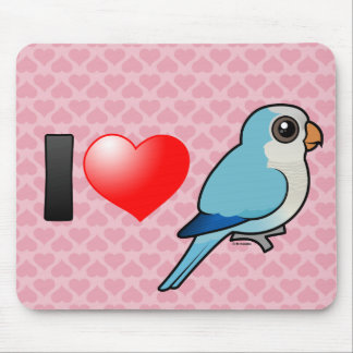 I Love Blue Quakers Mouse Pad