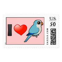 I Love Blue Quakers Large Stamp 2.5