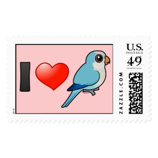 I Love Blue Quakers Stamps