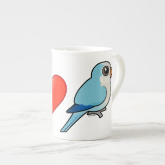 I Love Blue Quakers Tea Cup