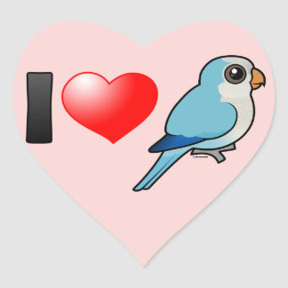 I Love Blue Quakers Heart Sticker