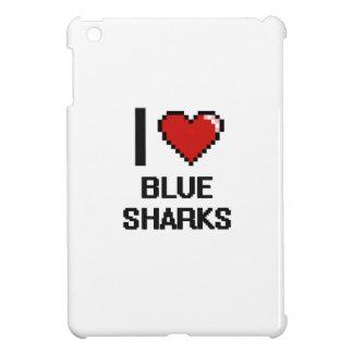 I love Blue Sharks Digital Design Cover For The iPad Mini