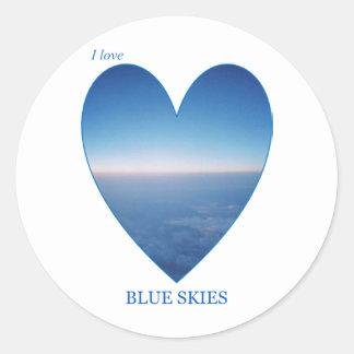 I Love Blue Skies Classic Round Sticker