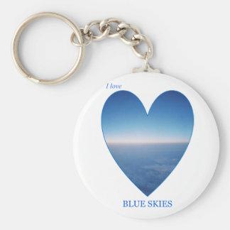 I Love Blue Skies Keychain