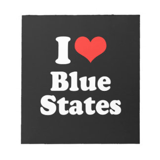 I LOVE BLUE STATES png Memo Note Pad