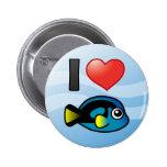 I Love Blue Tang Pin