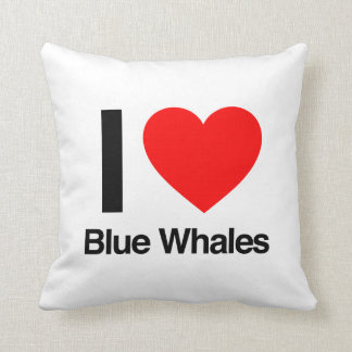i love blue whales throw pillow