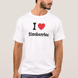 I love Blueberries heart T-Shirt