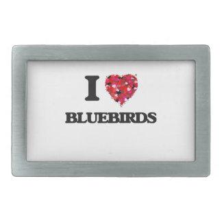 I Love Bluebirds Belt Buckles